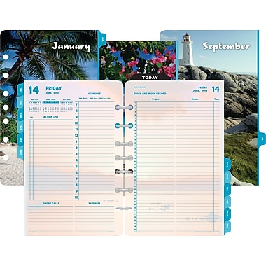 2014 Day-Timer® Two-Page-Per-Day Coastlines® Refill, 5 1/2in. x 8 1/2in.