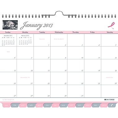 "2014 Day-Timer® Tabbed Wall Calendars, 11"" x 8 1/2"""
