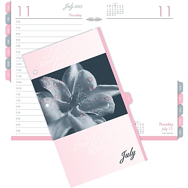 "2014 Day-Timer® Two-Page-Per-Day Desk Calendar Refill, 3 1/2"" x 6"""