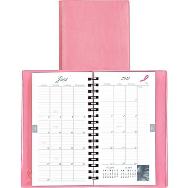 "2014 Day-Timer® Pink Ribbon Monthly Planner, 3 1/2"" x 6 1/2"""