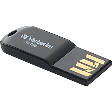Verbatim 44051 32GB Micro USB 2.0 Flash Drive, Black