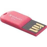 Verbatim Store 'n' Go Micro USB Drive 8GB USB 2.0 USB Flash Drive (Pink)