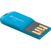 Verbatim Store 'n' Go Micro USB Drive 8GB USB 2.0 USB Flash Drive (Blue)