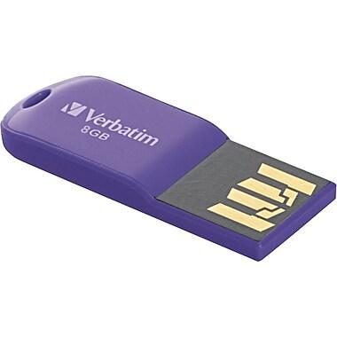 Verbatim Store 'n' Go Micro USB Drive 8GB USB 2.0 USB Flash Drive (Purple)