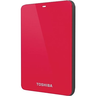 Toshiba Canvio 3.0 1TB Portable USB 3.0 External Hard Drive (Red)