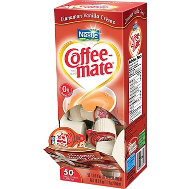 Nestlé Coffee-mate® Liquid Coffee Creamer Singles, Cinnamon Vanilla Creme, 50/Box