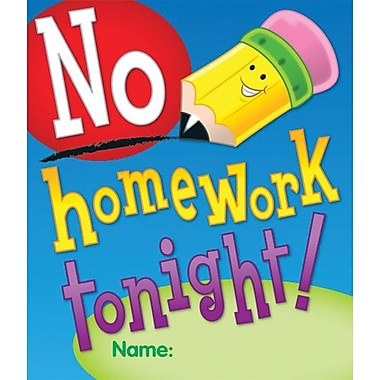 Carson-Dellosa No Homework Tonight Certificate
