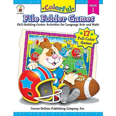 Carson-Dellosa Colorful File Folder Games, Grade 1