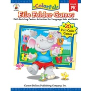 Carson-Dellosa Colorful File Folder Games, Grade PK