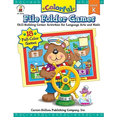 Carson-Dellosa Colorful File Folder Games, Grade K