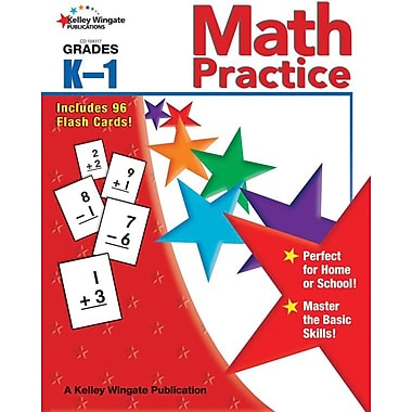 Kelley Wingate Math Practice Workbook, Grades K - 1