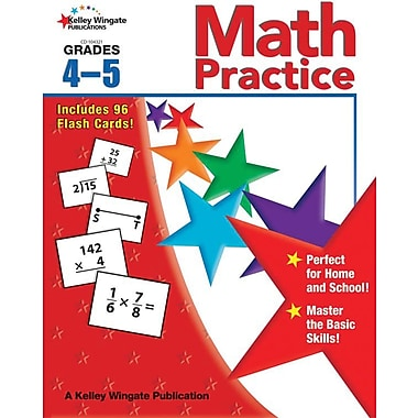 Kelley Wingate Math Practice Workbook, Grades 4 - 5