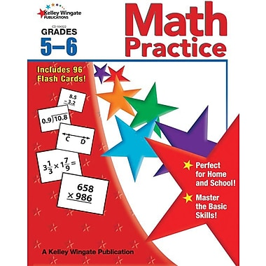 Kelley Wingate Math Practice Workbook, Grades 5 - 6