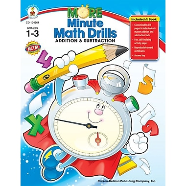 Carson-Dellosa More Minute Math Drills Resource Book, Grades 1 - 3
