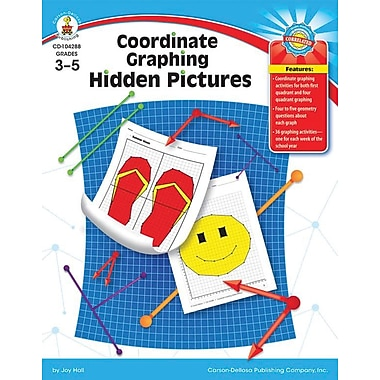 Carson-Dellosa Coordinate Graphing Hidden Pictures Resource Book