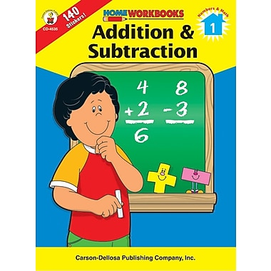 Carson-Dellosa Addition & Subtraction Workbook, Grade 1