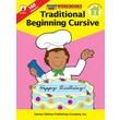 Carson-Dellosa Traditional Beginning Cursive Workbook
