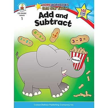 Carson-Dellosa Add and Subtract Resource Book, Grade 1