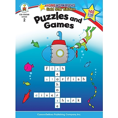 Carson-Dellosa Puzzles and Games Resource Book, Grade 2
