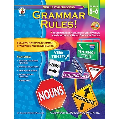 Carson-Dellosa Grammar Rules! Resource Book, Grades 5 - 6
