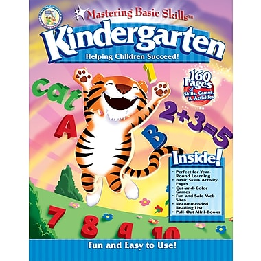 Thinking Kids 904050 Mastering Basic Skills for Kindergarten Workbook