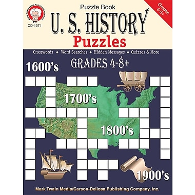 Mark Twain U.S. History Puzzles Resource Book