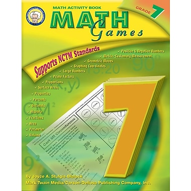 Mark Twain Math Games Resource Book, Grade 7