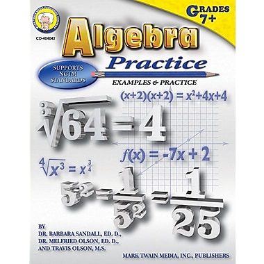 Mark Twain Algebra Practice Book Resource Book