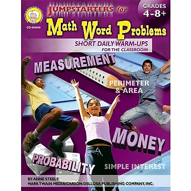 Mark Twain Jumpstarters for Math Word Problems Resource Book