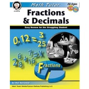 Mark Twain Math Tutor: Fractions and Decimals Resource Book