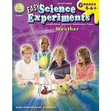Mark Twain Easy Science Experiments Resource Book, Grades 4 - 6+