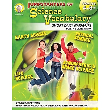 Mark Twain Jumpstarters for Science Vocabulary Resource Book