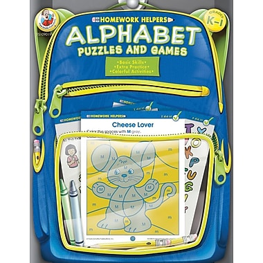 Frank Schaffer Alphabet Puzzles and Games Workbook