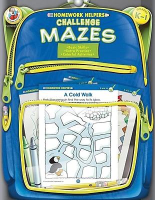 Frank Schaffer Challenge Mazes Workbook Grades K 1