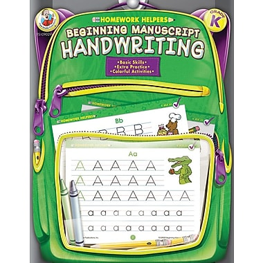 Frank Schaffer Beginning Manuscript Handwriting Workbook