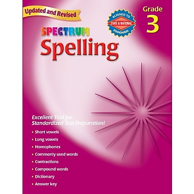 Spectrum Spelling Workbook, Grade 3