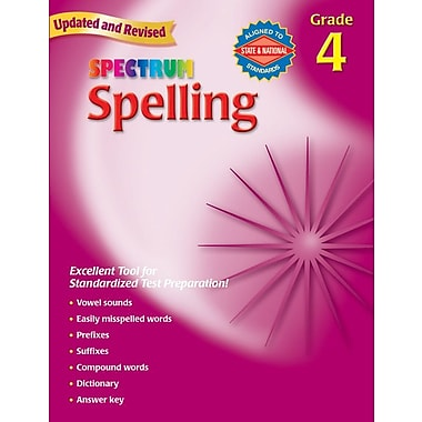 Spectrum 0769652646 Grade 8 Spelling Workbook