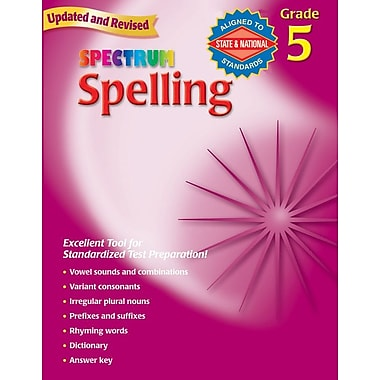 Spectrum Spelling Workbook, Grade 5