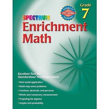 Spectrum Enrichment Math Workbook, Grade 7