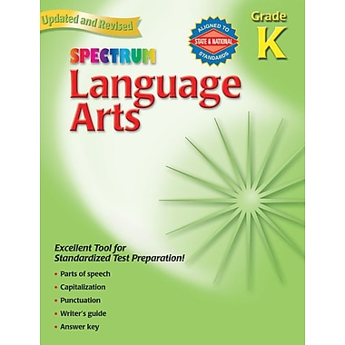 Spectrum CD-704064 Language Arts Workbook, Grade Kindergarten