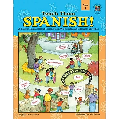 Instructional Fair Teach Them Spanish! Resource Book, Grade 1