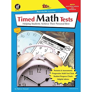 Instructional Fair Timed Math Tests, Multiplication and Division Resource Book