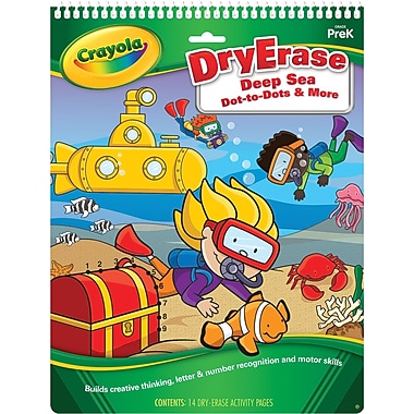 Crayola Deep Sea Dot-to-Dots & More Activity Pad