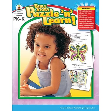 Carson-Dellosa Bible Story Puzzle 'n' Learn! Resource Book, Grades PK - K