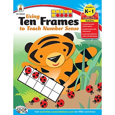 Carson-Dellosa Using Ten Frames to Teach Number Sense Resource Book