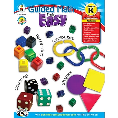 Carson-Dellosa Guided Math Made Easy Resource Book, Grade K