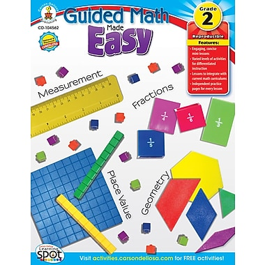 Carson-Dellosa Guided Math Made Easy Resource Book, Grade 2