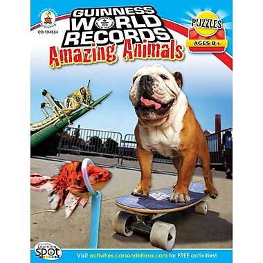 Carson-Dellosa Guinness World Records® Amazing Animals Workbook