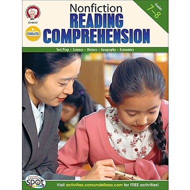 Mark Twain Nonfiction Reading Comprehension Resource Book, Grades 7 - 8