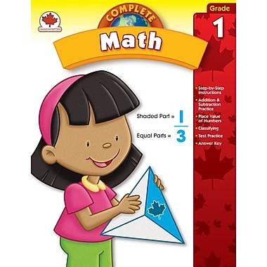 Carson-Dellosa Complete Math Workbook, Grade 1
